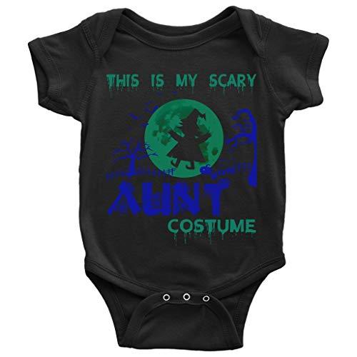 My Scary Aunt Costume Baby Bodysuit, Halloween Costume Baby Bodysuit (12M, Baby Bodysuit - Black)