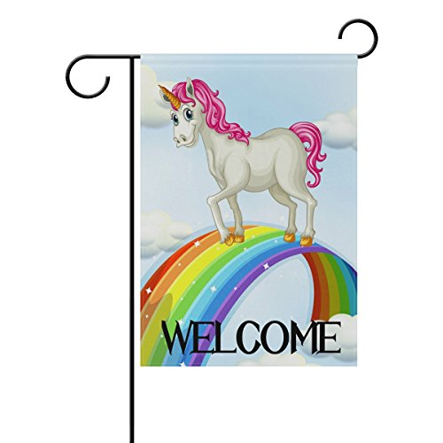 TropicalLife Welcome Galaxy Star Rainbow Unicorn Polyester G