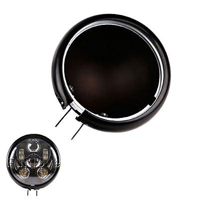 "Funlove 5 3/4"" 5.75 Inch Daymaker Led Headlight Housing for Harley Davidson FXWG Chopper"