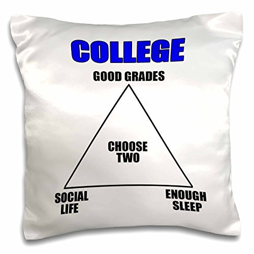 onepicebest Throw Pillow Covers with Words for Sofa Couch-Funny Quotes - College choose two, Blue - 18x18 inch Pillow Case