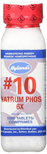 (Hyland's Cell Salts #10 Natrum Phosphoricum 6X Tablets, Natural Relief of Indigestion, Gas and Joint Pain, 1000 Count)