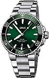 Oris Aquis Date Green Dial 43.5mm Steel Men's Watch - Reference: 01...