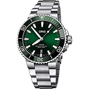 Oris Aquis Date Green Dial 43,5 mm Reloj de acero para hombre – Referencia: 01 733 7730 4157-07 8 24 05PEB 1