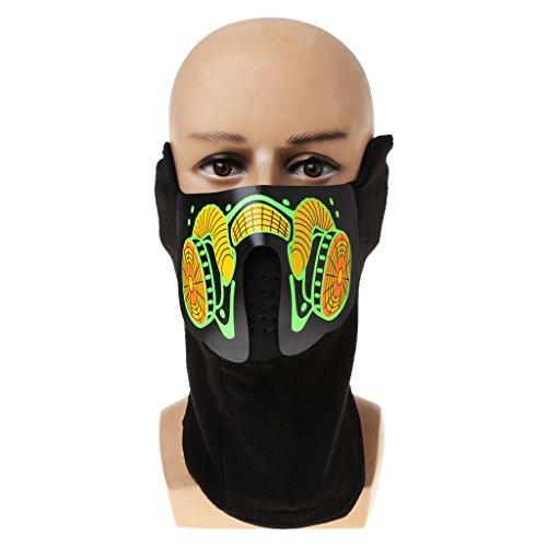 Junlinto Led Mask Luminous Skull Mask Maske Masque Horreur Halloween Decoration Craft Supplies -
