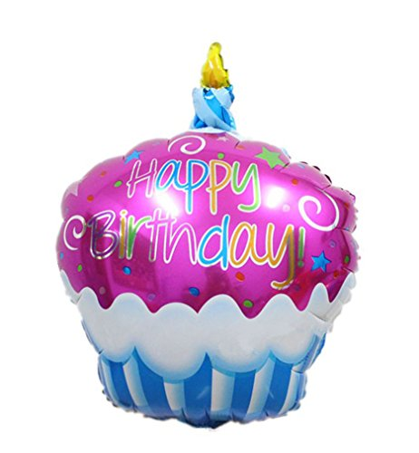 [Birthday Cake Candle air balls helium Foil Balloons Happy Birthday Party (Yellow)] (Dance Central Character Costumes)
