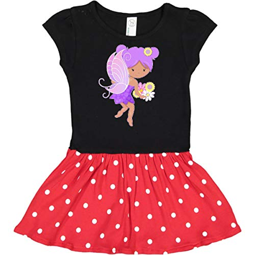 (inktastic - Purple Flower Toddler Dress 2T Black & Red with Polka Dots 2a57d)