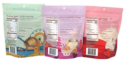 Variety Pack - Smash Mallow Marshmallows (4.5 Oz) - Strawberries & Cream, Cinnamon Churro, Cookie Dough