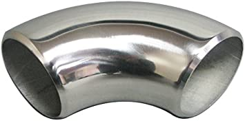 1.75in 90 degree stainless steel bend