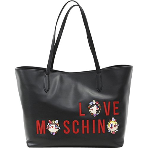 LOVE Moschino Women's Charming Girls Tote Black Handbag by Love Moschino