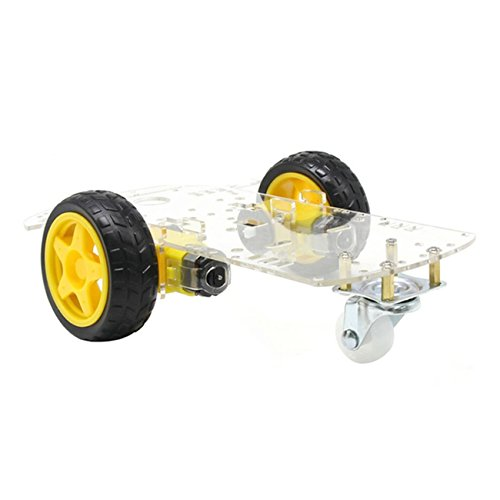 The perseids DIY Robot Smart Car Chassis Kit with Speed Encoder, Wheels and Battery Box (2 Wheels) -