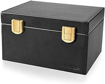 Faraday Caja para Coche Llaves, Cuero Señal Bloqueador Caja para Coche Llaves Engañar Teléfonos Tarjetas Sin Claves Entrada RFID Señal Bloqueador Y Anti-Robo Faraday Caja Jaula (Doble cerradura): Amazon.es: Coche y moto