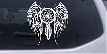 FEATHER Chrome Vinyl Decals 2 Trucks 6 inch Cars Van SUV Laptops Etc