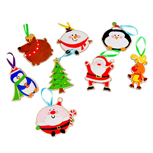 BESTOYARD Christmas Wooden Craft Kits Christmas Tree Hanging