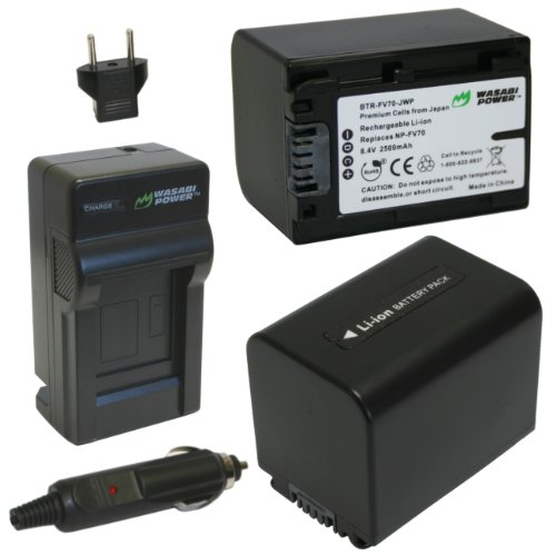 Wasabi Power Battery (2-Pack) and Charger for Sony NP-FV7...