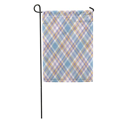 - Nick Thoreaufhed Garden Flag Tartan Plaid Pattern Checkered Twill in Pastel Palette of Greenish Home Yard House Decor Barnner Outdoor Stand 12x18 Inches Flag