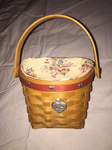 - Longaberger 2001 Love Notes Basket with Protector, Liner, and Tie On