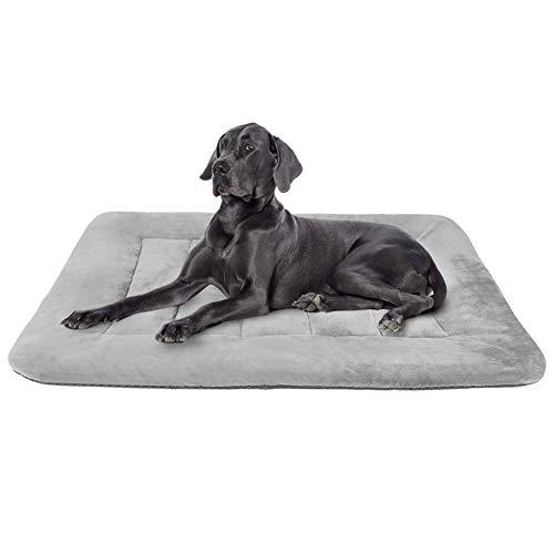 Hero Dog Large Dog Bed Crate Pad Mat 42 Inch Washable Matteress Anti Slip Cushion for Pets Sleeping Grey L