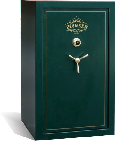 Pioneer WF30 Green, 1 Hour Fire Rated gun safes, 33 Gun Safe, outside dimensions 36