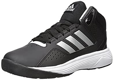 Adidas Neo Men's Cloudfoam Ilation Mid Wide Basketball Shoe, Black/Matte Silver/White, 10 W US