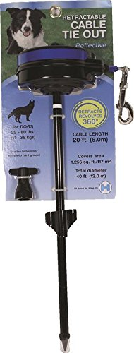 Lixit Retractable Cable Dog Tie Out by Lixit Animal Care
