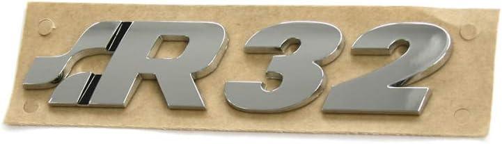 color cromo Volkswagen 1K0853675P739 Emblema R32 para tuning