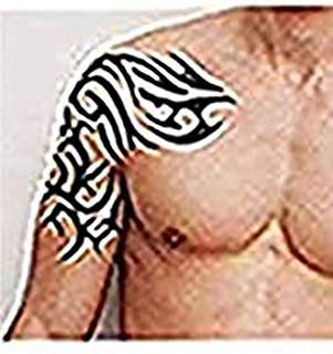 Tafly Temporary Tattoos Men Totem Extra Large 8 6 X 9 4 Inches Shoulder Arm Band Body Art 2 Sheets