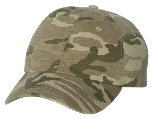 ap, Tan Camo, Adult (Bio Washed Twill Cap)