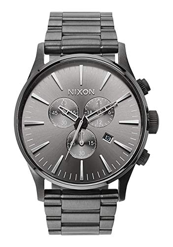 Chronograph Solid Wrist Watch - Nixon Men's A386632 Sentry Chrono Watch