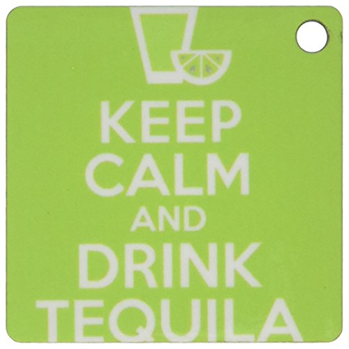 3dRose Keep Calm and Drink Tequila Key Chains, Set of 2 (kc_193604_1) (Tequila Rose Margarita)