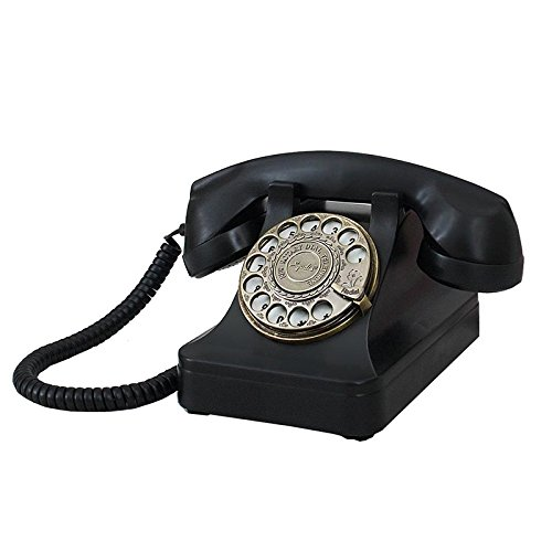 Telephone Health UK Teléfono clásico Vintage Tocadiscos Negro ABS ...