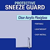 Protective Sneeze Guard for Counter and Desk