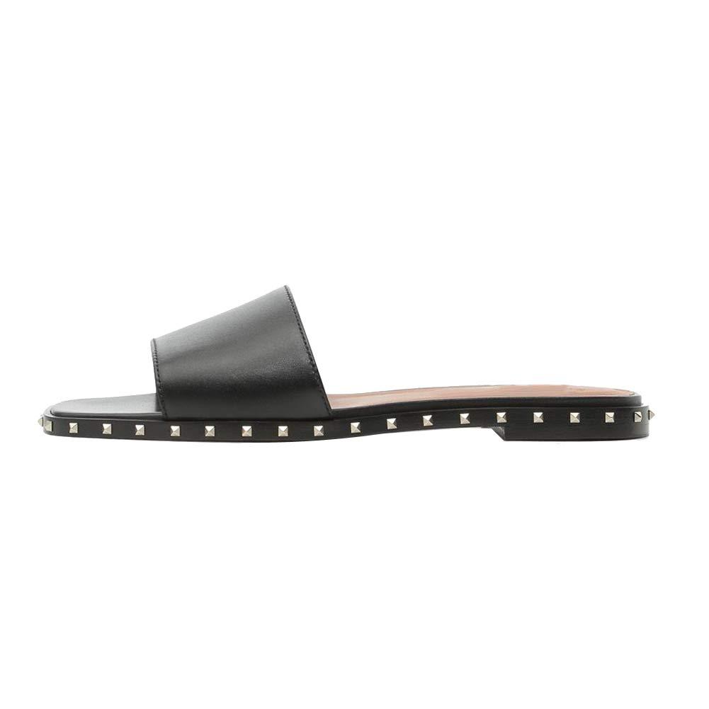 b5fe5223d30f3 Amazon.com   Themost Women's Open Toe Slippers Slide Sandals Rivets ...