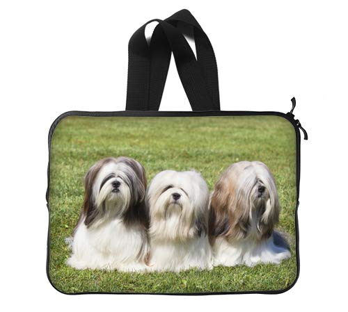 CustomLittleHome Lhasa Apso Long Hair Dog Breeds Custom Lapotp Sleeves Bags 13
