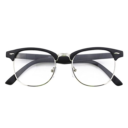 UV400 nerd transparents Lunettes verres inspirées à CN56 à d'écaille Matte Black vintage monture CGID wagqH4w