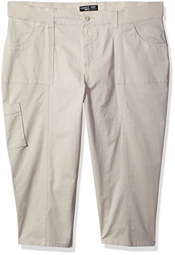 Lees Skimmer (Riders by Lee Indigo Women's Plus Size Cuffed Cargo Pocket Skimmer Pant, Driftwood, 20W)