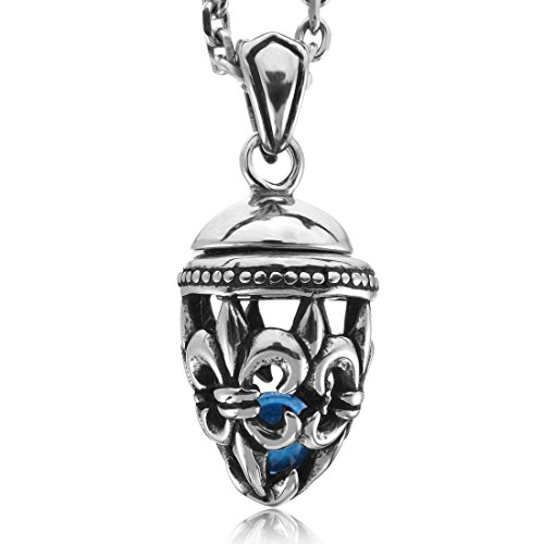 INBLUE Stainless Enamel Pendant Necklace