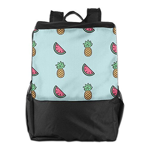 Storage Travel Pineapples Shoulder Personalized and Men for Outdoors Women Watermelons School HSVCUY Strap Backpack Adjustable Camping Dayback FPtz1qn