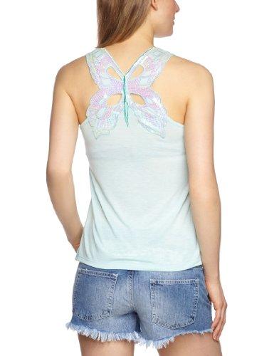 Jane Norman - Camiseta sin mangas de sin mangas para mujer Aqua