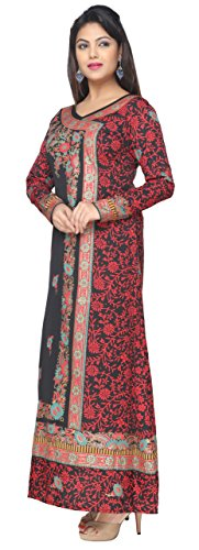 Maple Clothing Printed Women's Long Kaftans Abayas Long Sleeve Dress Tunic