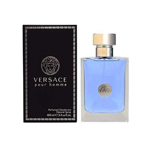 VERSACE Pour Homme Perfumed Deodorant Spray, 3.4 Ounce