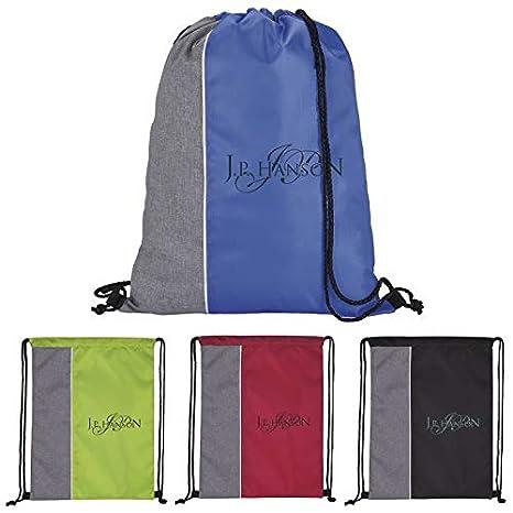 Good Value Standout Drawstring Backpack Black 100 Pack