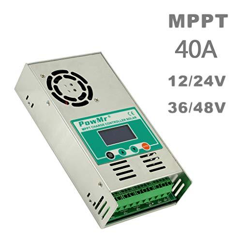 Mairuay Solar Controller Smart Identification Panel Battery Charging Regulator 12V 24V 36V 48V MPPT with Communication Fan ()
