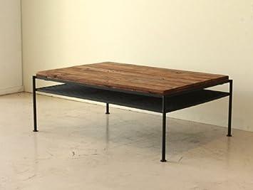 リビングテーブル 幅93cm 高さ35cm 奥行66cm ローテーブル 古木風 シンプル ...