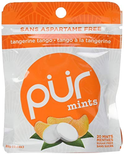- The PUR Company  | Sugar-Free + Aspartame-Free Mints  | 100% Xylitol  | Tangerine Tango | Vegan + non GMO  | 20 Mints per Bag (Tray of 12, 240 Mints)