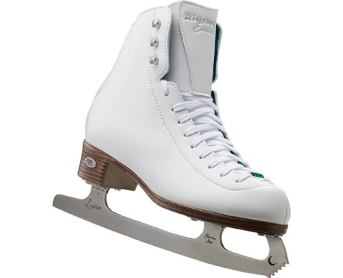 Riedell 119 Emerald / Womens Recreational Figure Ice Skates / Color: White / Wide / Size: 7