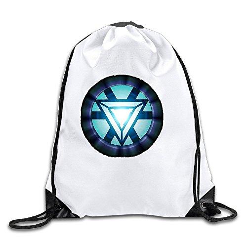 Iron Man Lightweight 100% Polyester Drawstring Bags White One - Ironman Miami