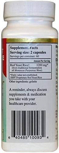 Hpf Llc Healthy Origins Cholestene Red Yeast Rice 120 Cap