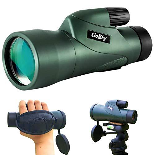 Gosky GOMN10502 High Definition Waterproof Fog- Proof Shockproof Monoscope -Bak4 Prism Fmc for Bird Watching Hunting Camping Travelling Wildlife Secenery, Skyhawk 10x50 Monocular
