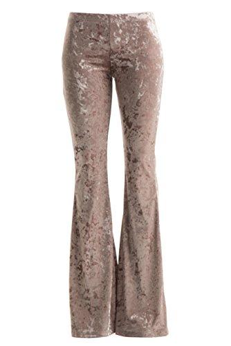 Velvet Bell Bottom Pants - 5