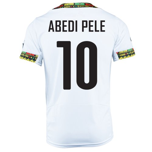(PUMA ABEDI PELE #10 GHANA HOME JERSEY WORLD CUP 2014 (2XL))